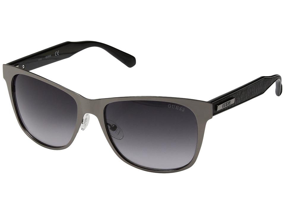 GUESS - GF5003 (Shiny Dark Nickeltin/Gradient Smoke) Fashion Sunglasses