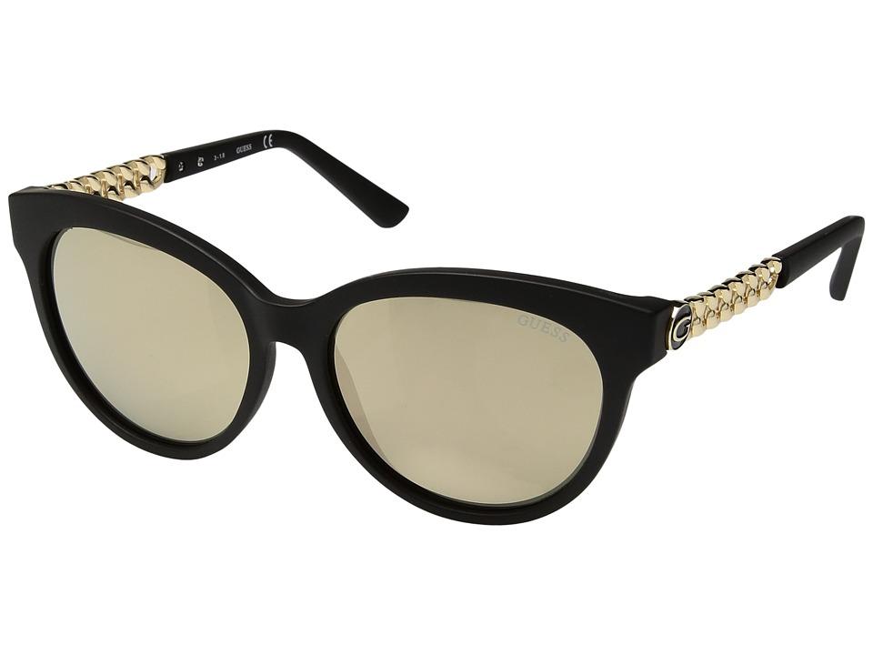 GUESS - GF6004 (Matte Black/Brown Mirror) Fashion Sunglasses