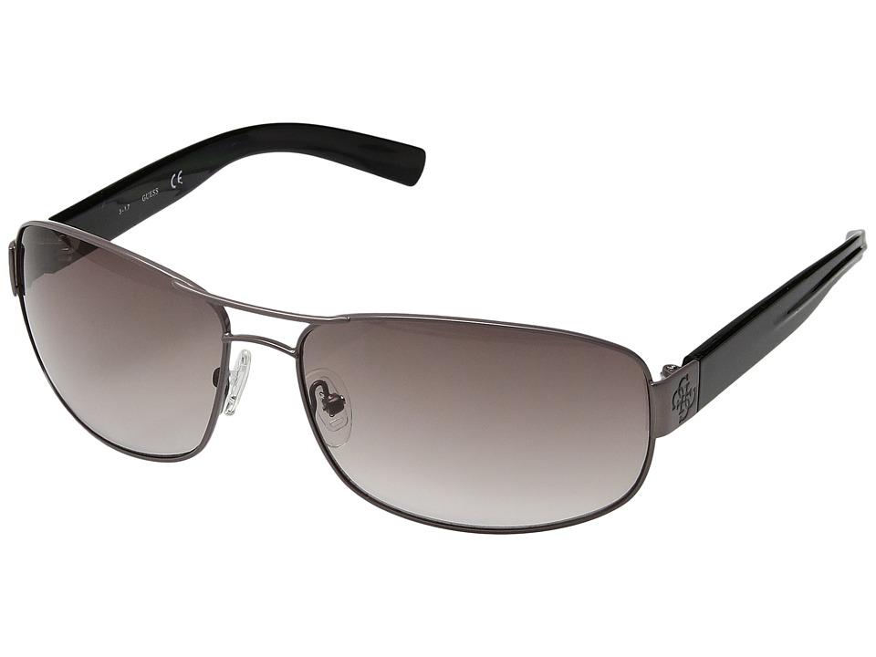 GUESS - GU6588 (Gunmetal/Gradient Grey Lens) Fashion Sunglasses