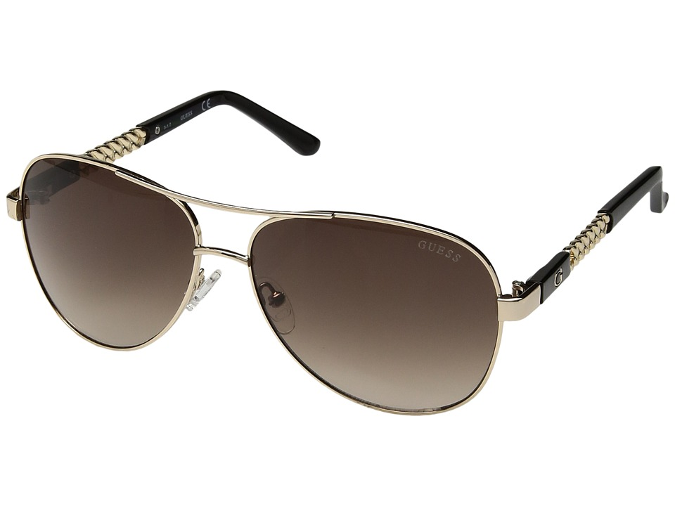 GUESS - GF6006 (Gold/Gradient Brown) Fashion Sunglasses
