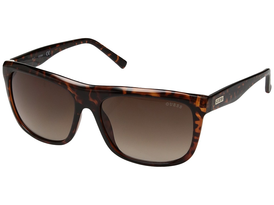 GUESS - GF5009 (Dark Havana/Gradient Brown) Fashion Sunglasses