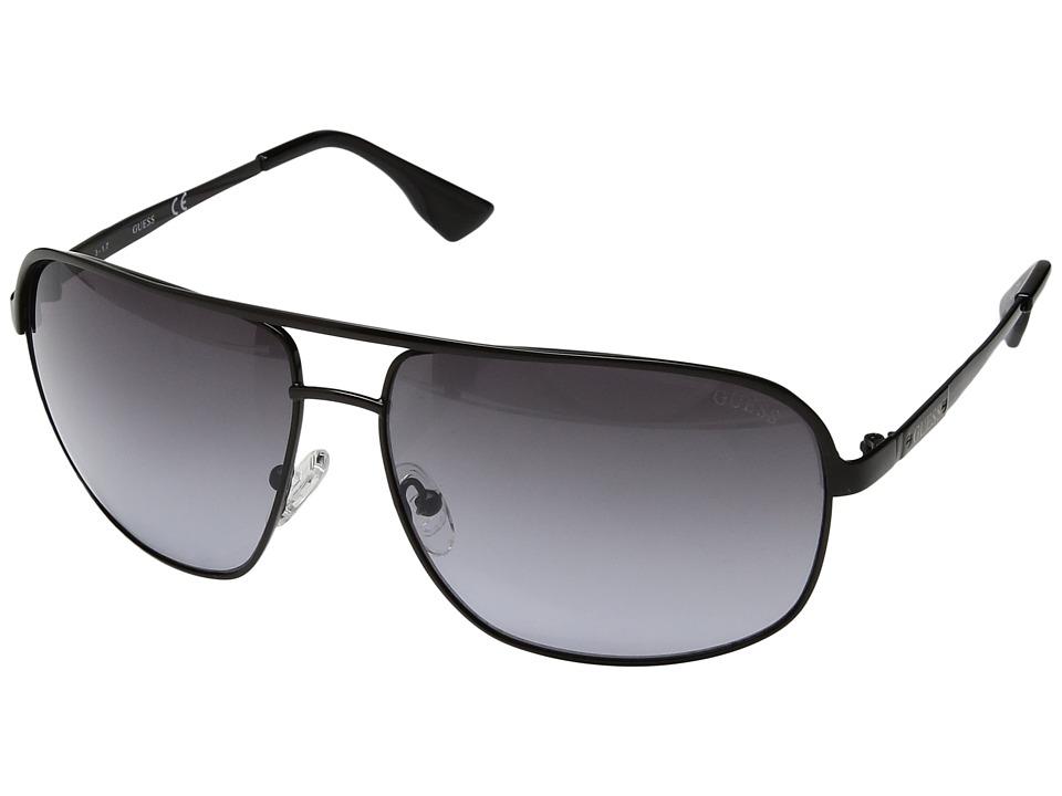 GUESS - GF5000 (Shiny Black/Gradient Smoke) Fashion Sunglasses
