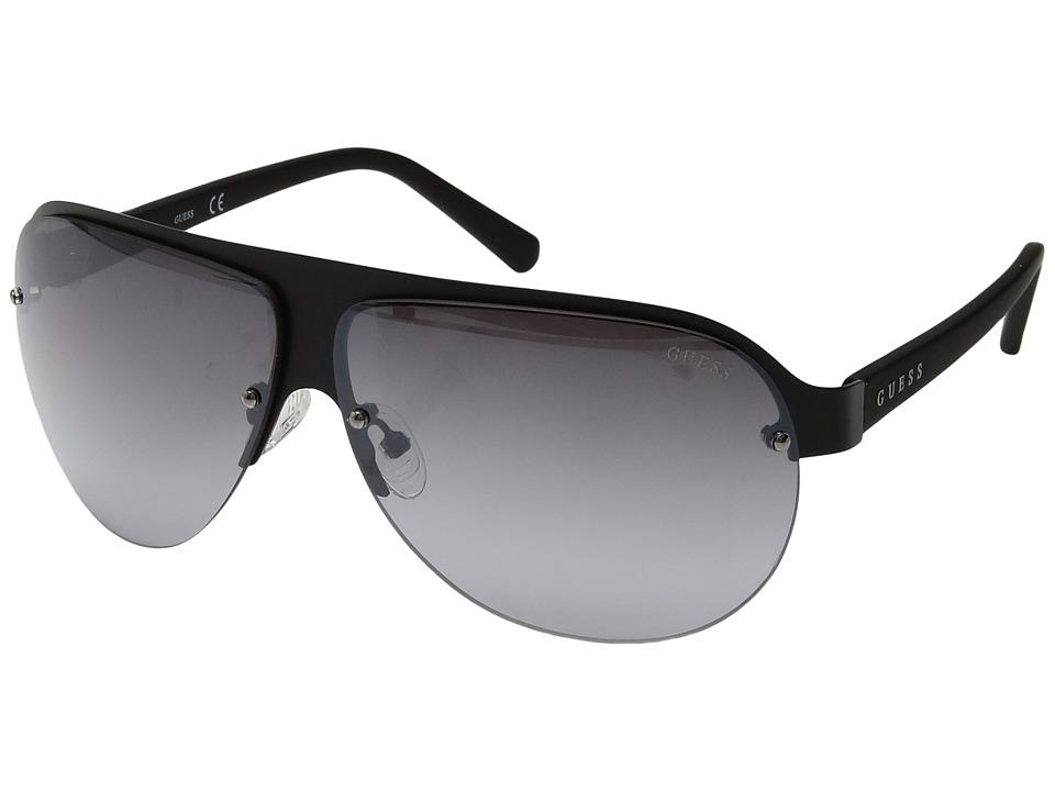 GUESS - GF0148 (Matte Black/Smoke Mirror) Fashion Sunglasses