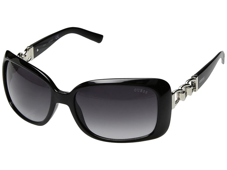 GUESS - GF6023 (Shiny Black/Gradient Smoke) Fashion Sunglasses