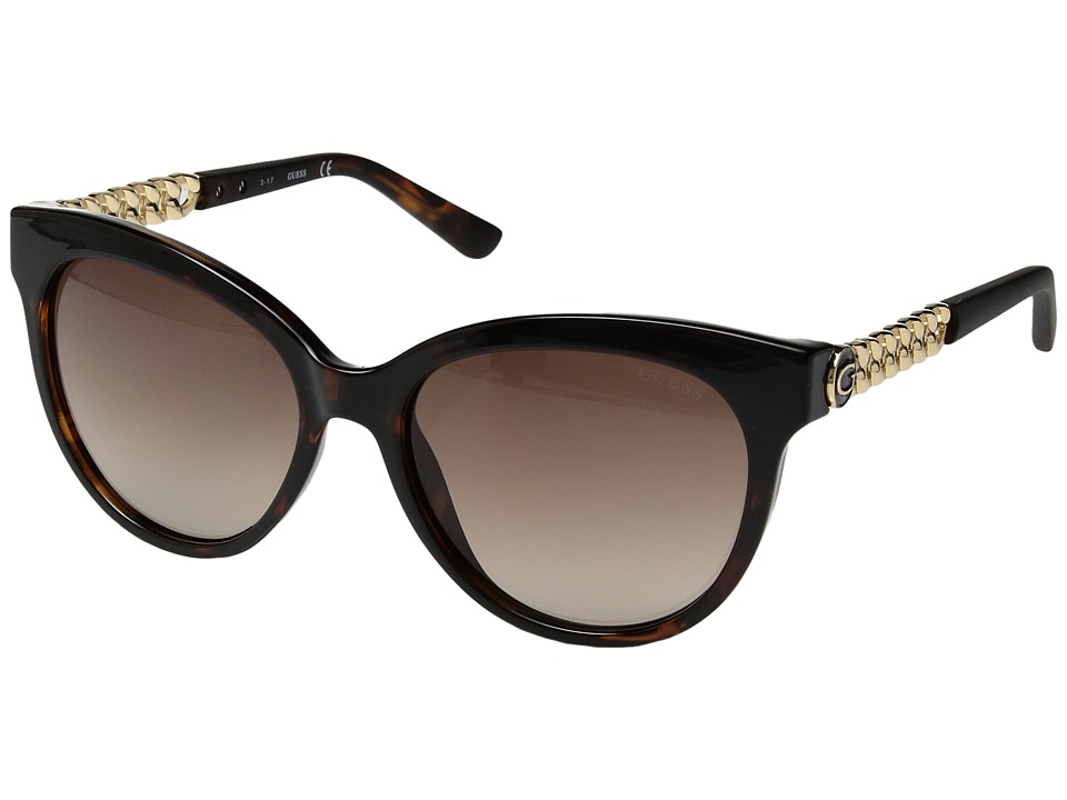 GUESS - GF6004 (Dark Havana/Gradient Brown) Fashion Sunglasses