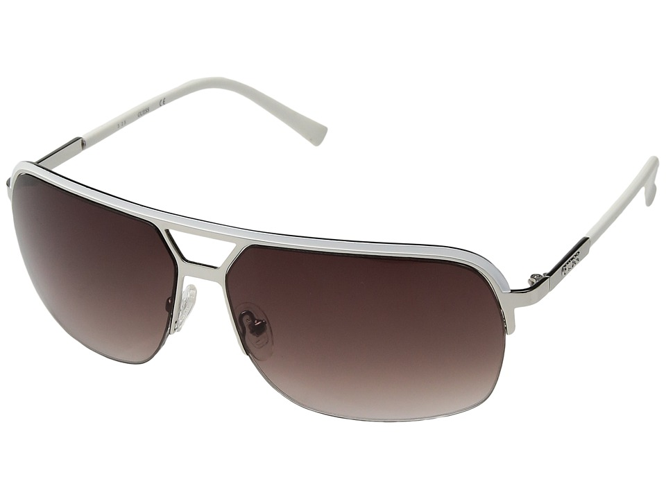 GUESS - GF0159 (White/Other/Gradient Smoke) Fashion Sunglasses