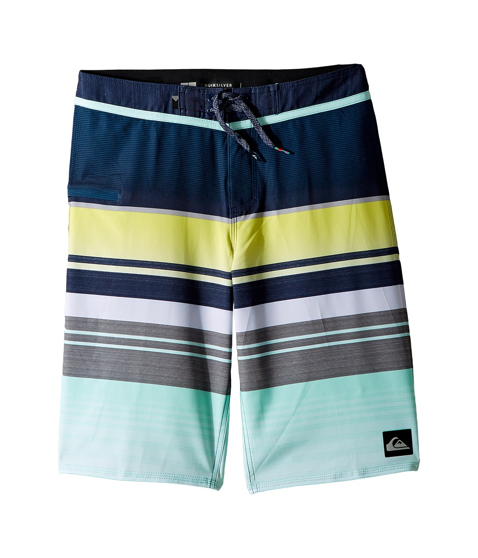 Quiksilver Kids Everyday Stripe Vee Boardshorts (Big Kids) (Blue Light) Boy