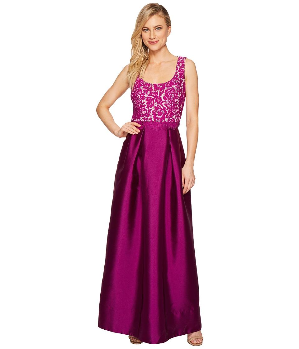 Sangria Lace Empire Waist Bodice Ballgown Skirt Evening Gown (Orchid) Women