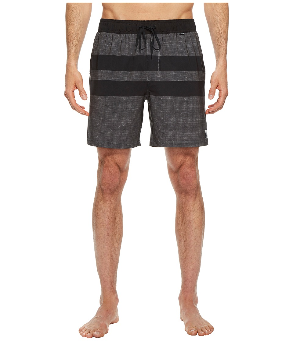 Hurley Phantom Blackball Volley Shorts (Black) Men