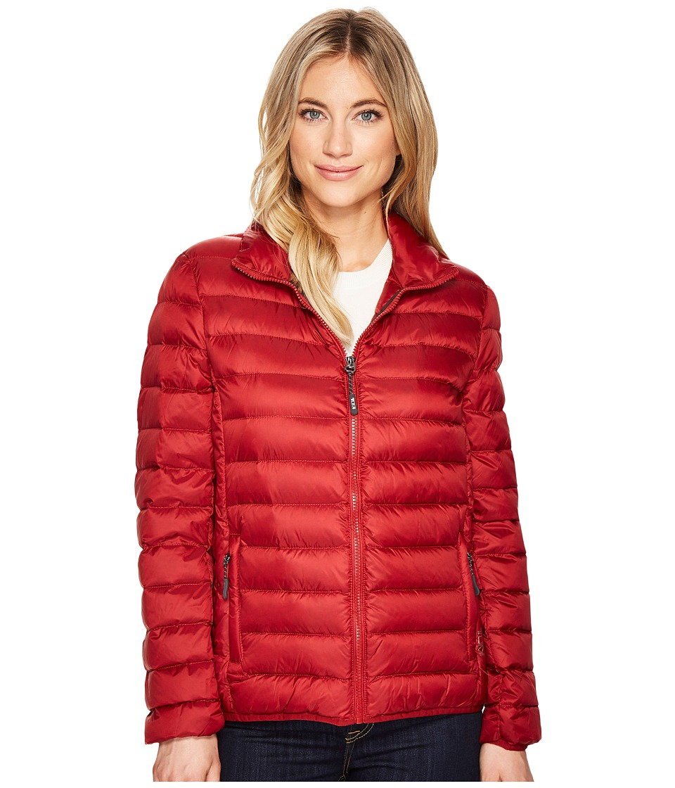 Tumi Clairmont Packable Travel Puffer Jacket (Crimson) Women