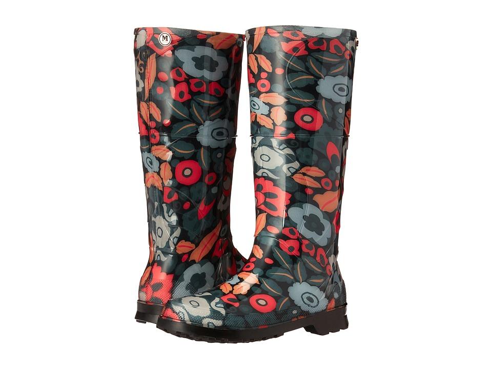 M Missoni Retro Floral Print Rain Boot (Black) Women