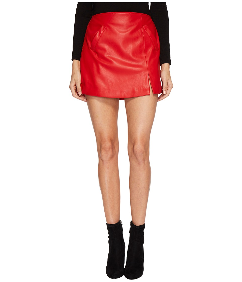 Blank NYC Vegan Leather Mini Skirt in Old Flame (Old Flame) Women