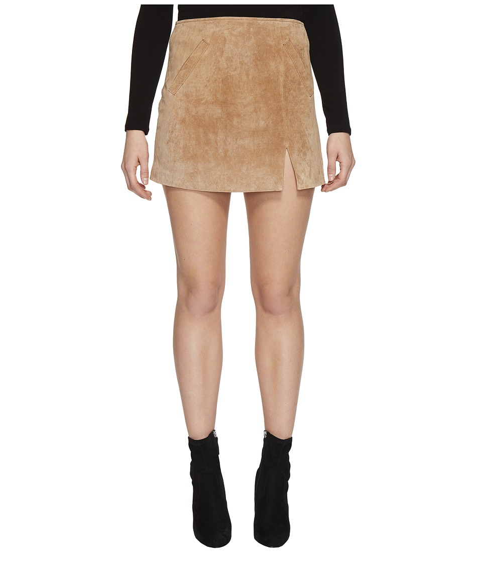 Blank NYC Real Suede Mini Skirt in Desert Sand (Desert Sand) Women