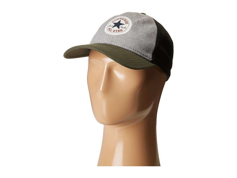 Converse - Core Color Block Cap (Heather Grey Herb) Caps