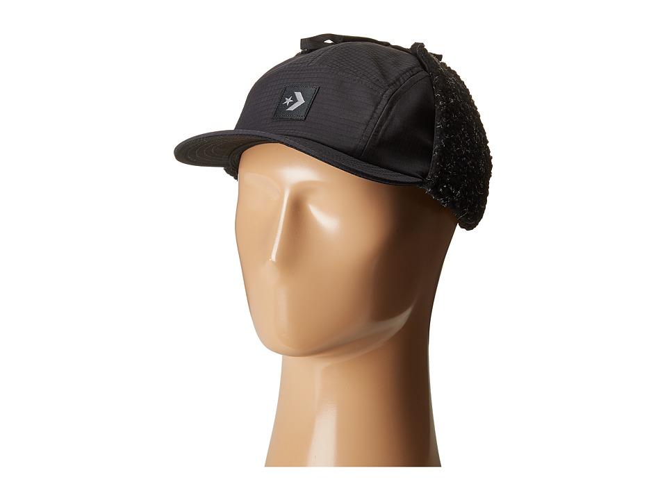 Converse - Earflap Camp Cap (Converse Black) Caps