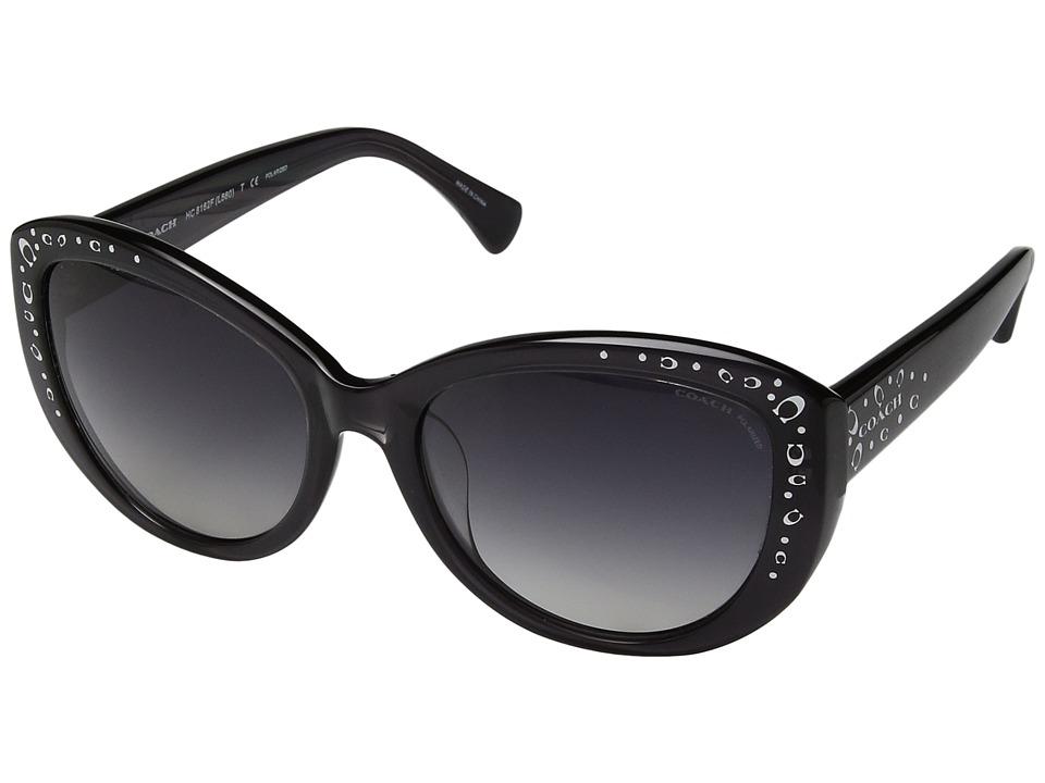 COACH - 0HC8162F (Black 1) Fashion Sunglasses