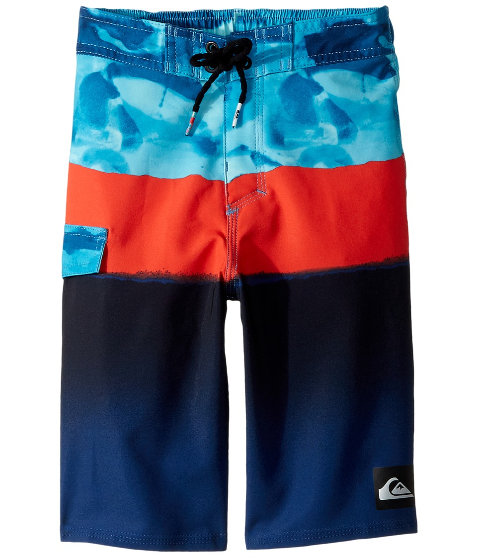 Quiksilver Kids Blocked Resin Camo 14 Boardshorts (Toddler/Little Kids) (Atomic Blue) Boy
