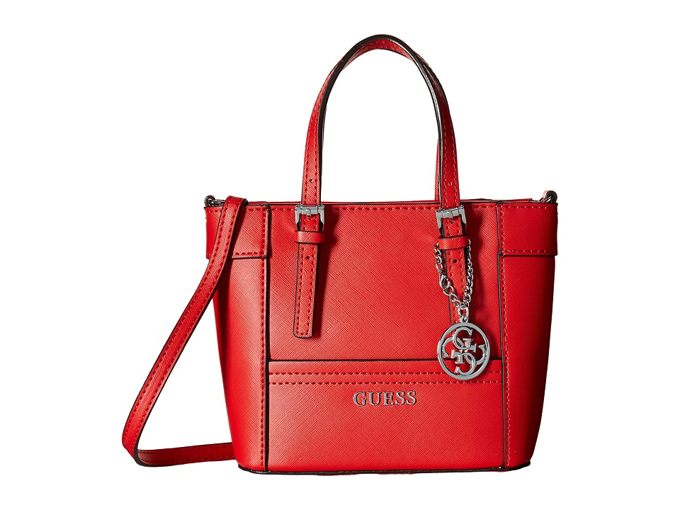 GUESS - Delaney Petite Tote (CNY Red) Tote Handbags