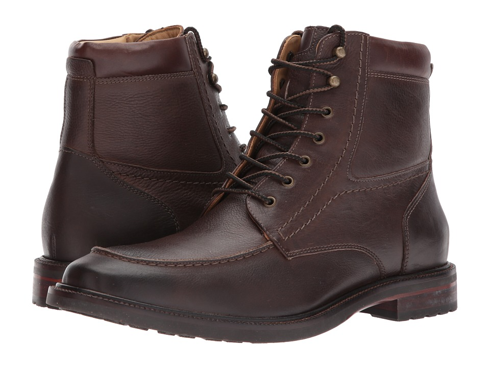 Johnston & Murphy - Baird Moc Toe Boot (Brown) Men's Dress Lace-up Boots