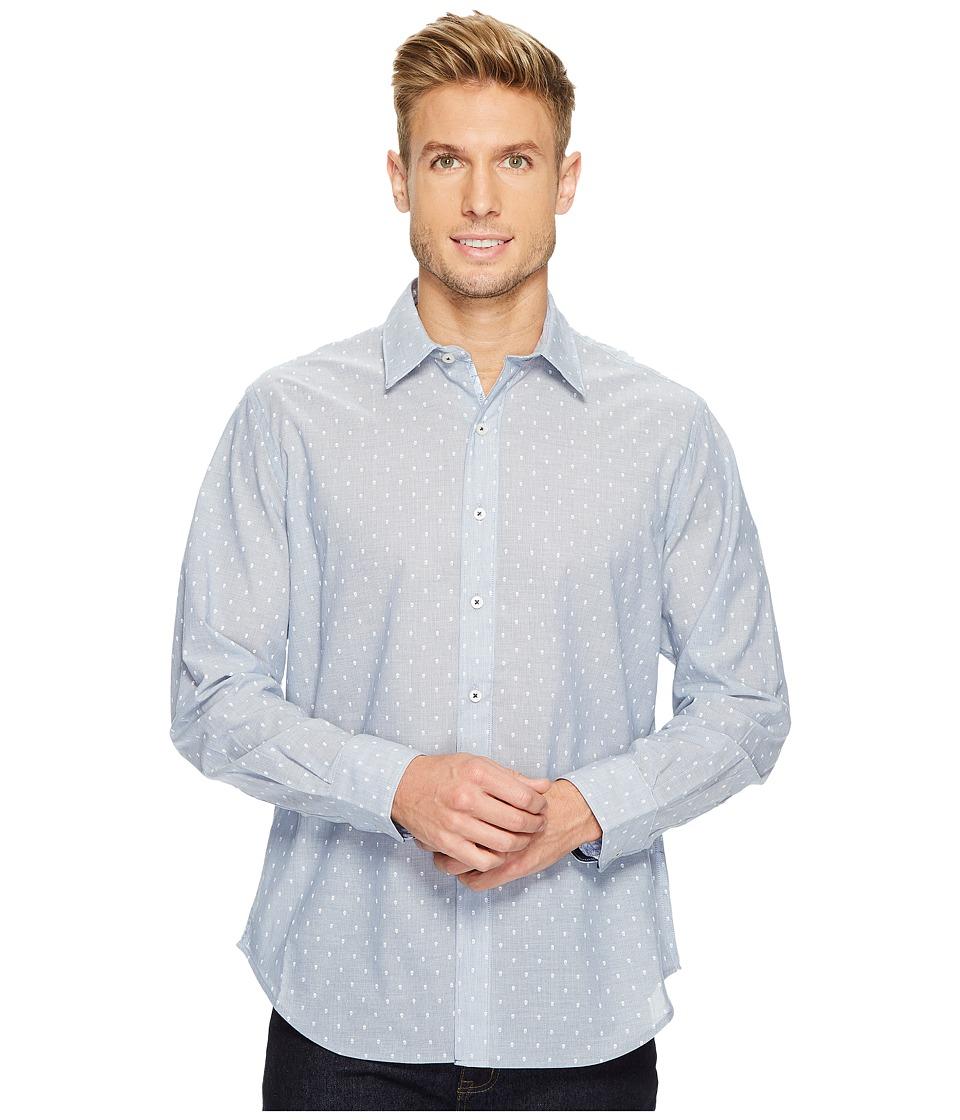 Robert Graham - Dogtown Long Sleeve Band Collar Shirt (Indigo) Men's Long Sleeve Pullover