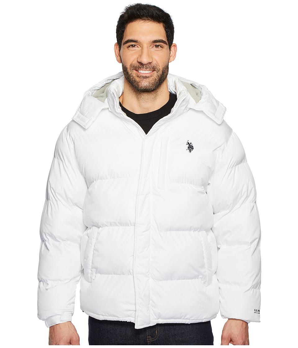 U.S. POLO ASSN. Classic Short Bubble Fleece Jacket with Small Logo (White) Men