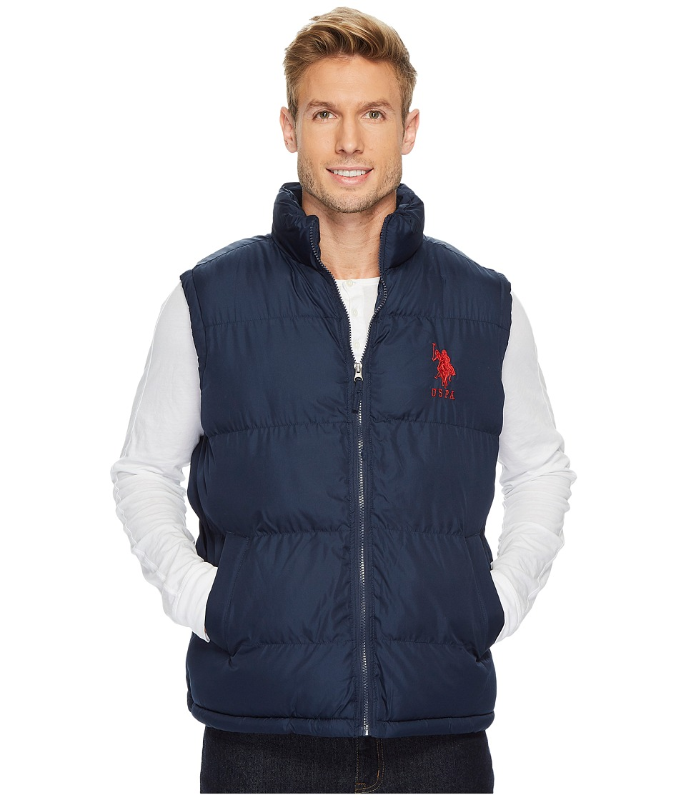 U.S. POLO ASSN. - Basic Vest with Big Pony Logo (Classic Navy) Men's Coat