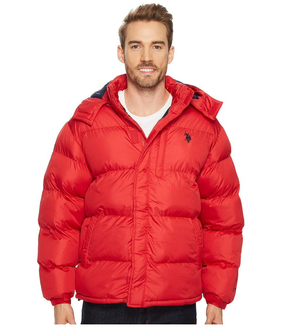 U.S. POLO ASSN. - Classic Short Bubble Fleece Jacket with Small Logo (Chili Pepper) Men's Coat