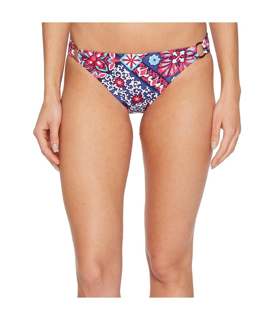 Tommy Bahama Persian Patchwork Ring Hipster Bikini Bottom (Bright Fuchsia) Women