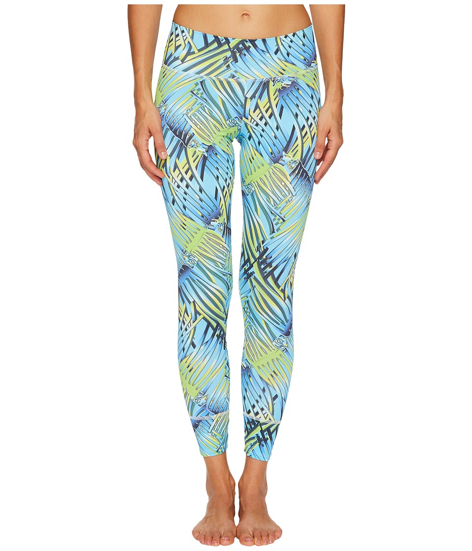 Letarte - Blue Palm Leggings (Blue Palm) Women's Swimwear