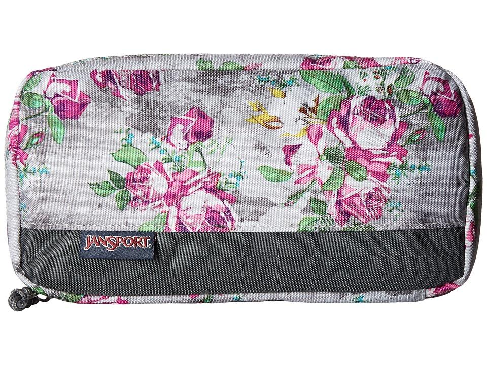 JanSport - Pixel Pouch (Multi Concrete Floral) Bags