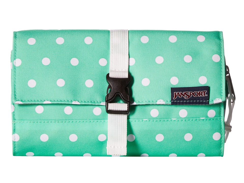 JanSport - Matrix Pouch (Seafoam Green/White Dots) Bags