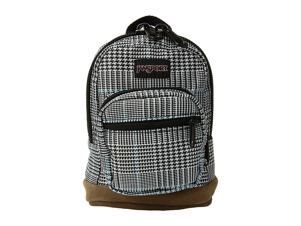 JanSport - Right Pouch (Black/White Suited Plaid) Bags