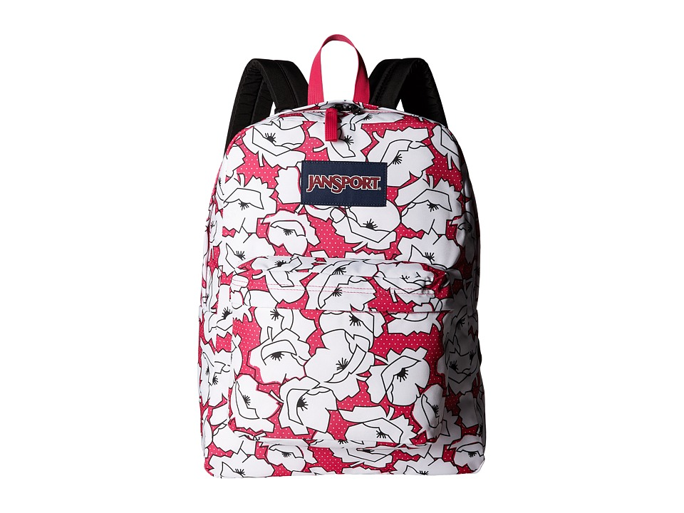 JanSport - Superbreak (Cyber Pink Block Floral) Bags