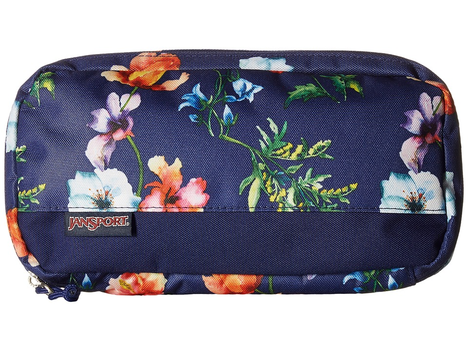 JanSport - Pixel Pouch (Multi Navy Mountain Meadow) Bags