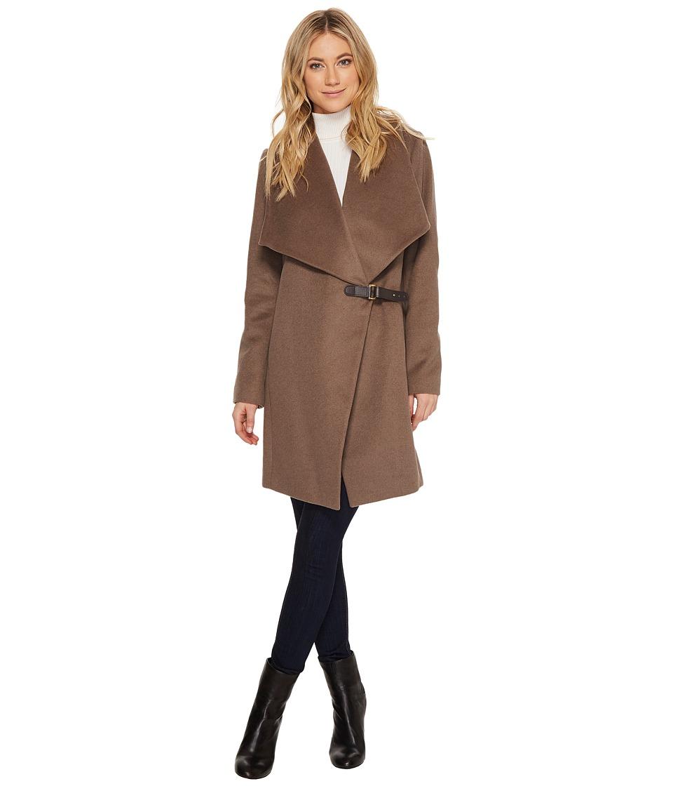 LAUREN Ralph Lauren - Doe Skin Drape Front w/ Buckle (Mink) Women's Coat