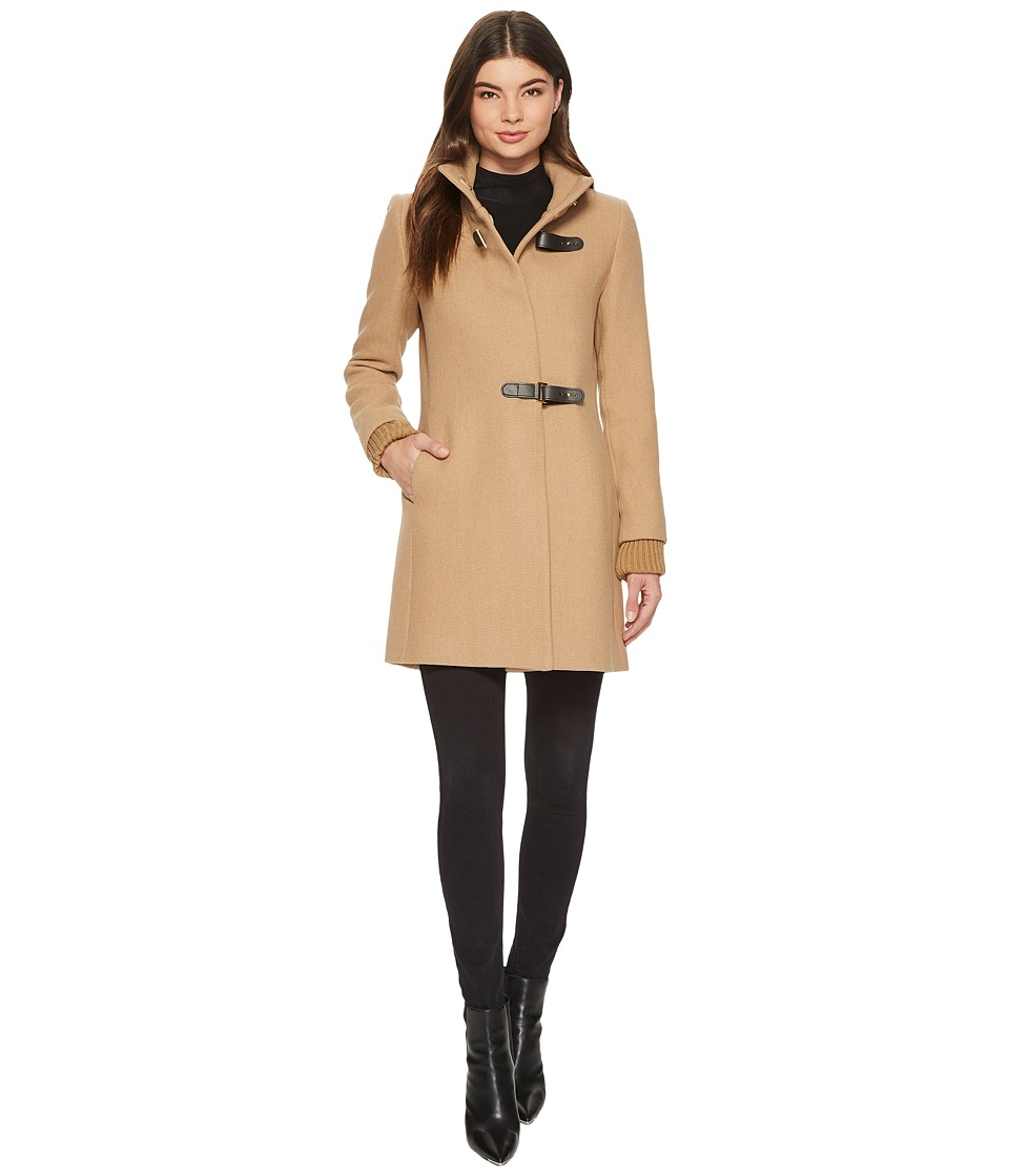 LAUREN Ralph Lauren - Basket Weave Novelty (Camel) Women's Coat