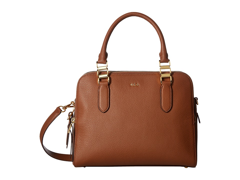 LAUREN Ralph Lauren - Rawson Callie Medium Satchel (Brown) Satchel Handbags