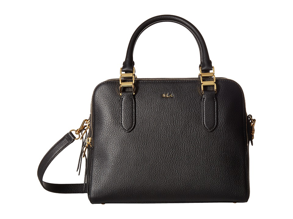 LAUREN Ralph Lauren - Rawson Callie Medium Satchel (Black) Satchel Handbags