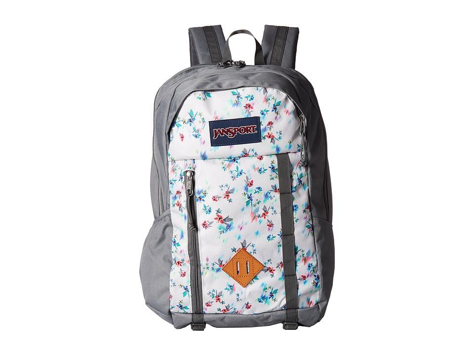 JanSport Foxhole (Multi Grey Floral Haze) Backpack Bags
