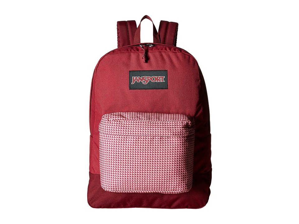 JanSport - Black Label Superbreak (Red Combo) Backpack Bags