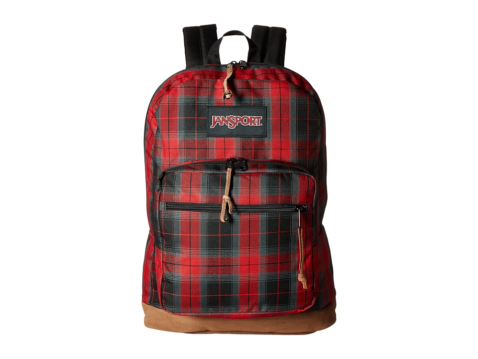 JanSport - Right Pack (Red Tape Plaid) Backpack Bags