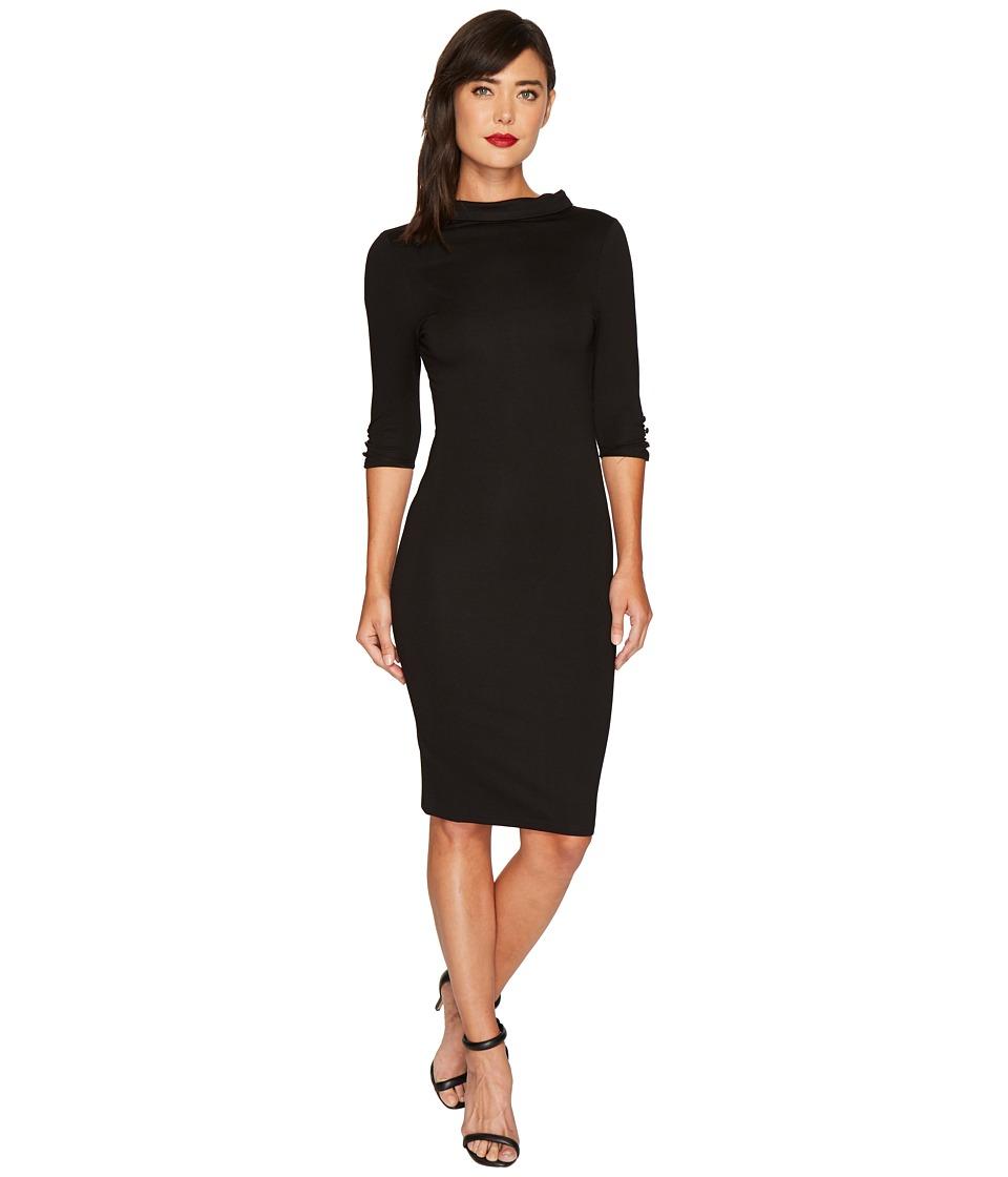 Unique Vintage - Cassidy Wiggle Dress (Black) Women's Dress