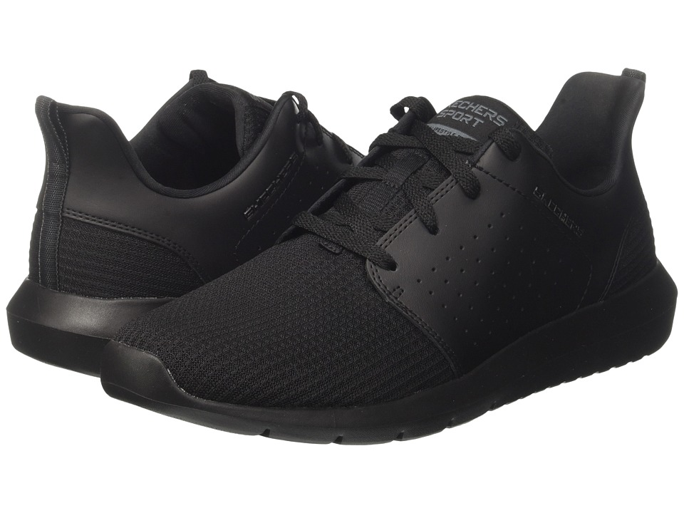 SKECHERS - Foreflex (Black) Men's Shoes