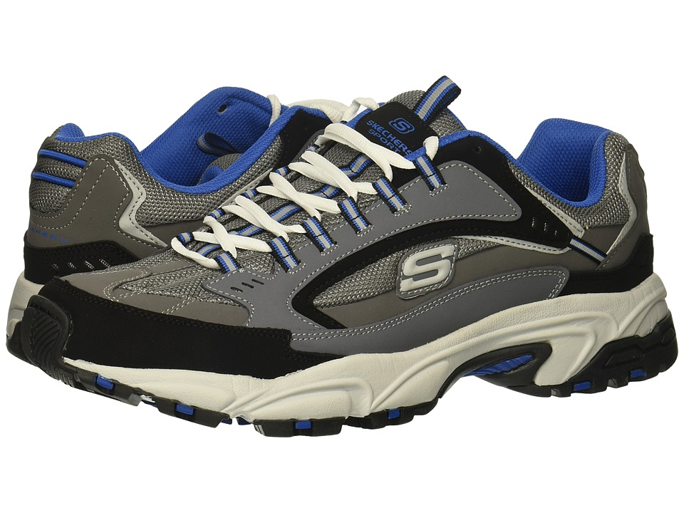 SKECHERS - Stamina Cutback (Charcoal/Blue) Men's Shoes