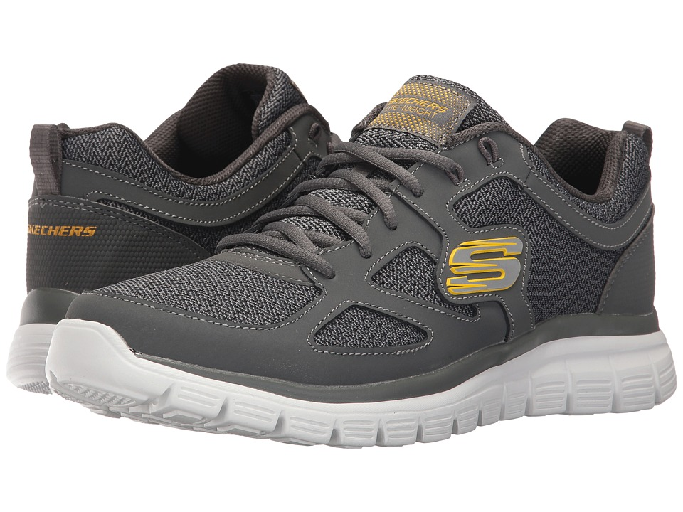 SKECHERS - Burns Agoura (Charcoal) Men's Shoes