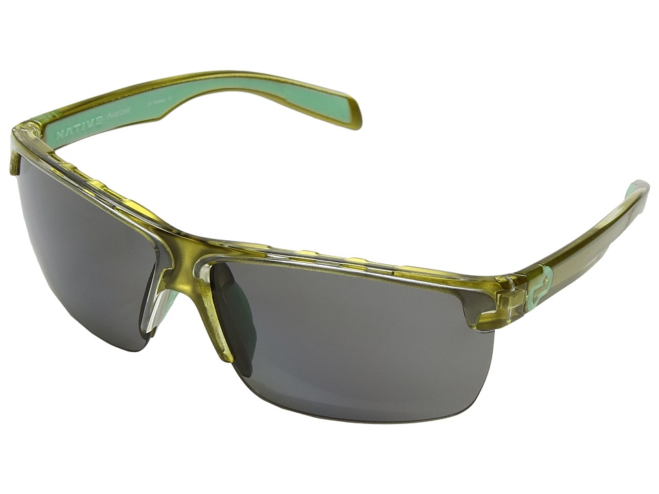 Native Eyewear - Linville (Metallic Fern/Polarized Gray) Sport Sunglasses