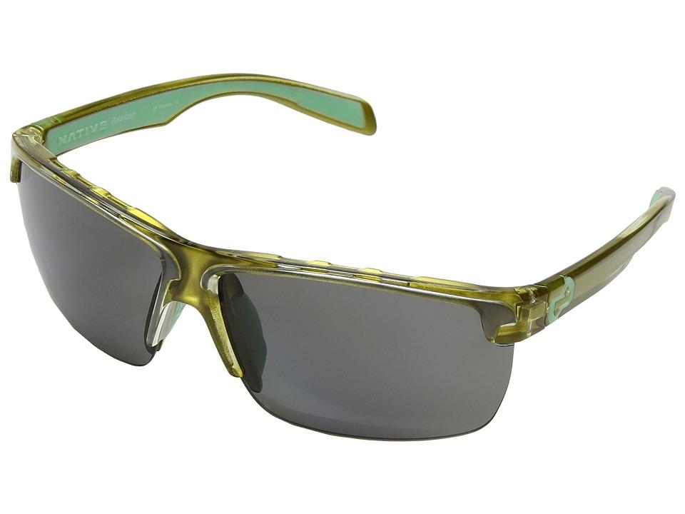 Native Eyewear - Linville (Metallic Fern/Polarized Gray) Sport Sunglasses