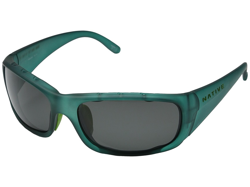 Native Eyewear - Bomber (Evergreen Frost/Polarized Gray) Sport Sunglasses