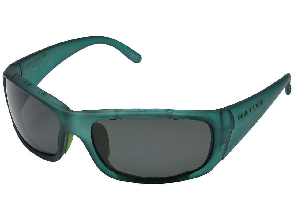 Native Eyewear - Bomber (Evergreen Frost/Polarized Gray) Sport Sunglasses