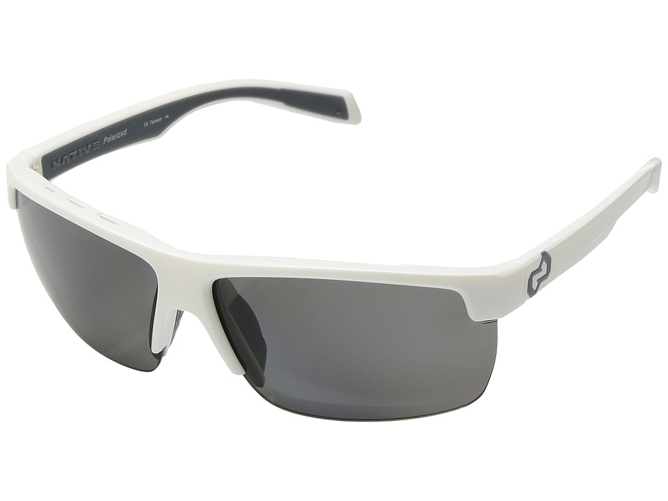 Native Eyewear - Linville (Snow/Polarized Gray) Sport Sunglasses